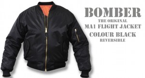 bomber black/orange