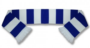 scarf blue and white bar