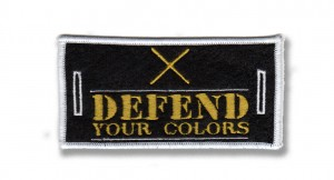removable badge defend your colors