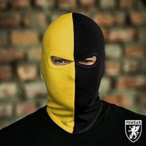 balaclava 50/50 black yellow
