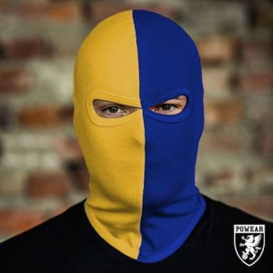 balaclava 50/50 blue yellow