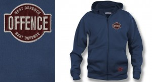 Hoodie zipper  Offence Best Defence