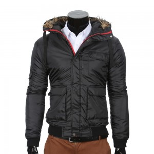 Hooded Winter Jacket Black (short model)