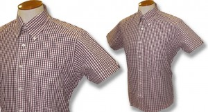 Gingham shirt Plain Bordeaux
