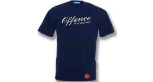 T-SHIRT OFFENCE BEST DEFENCE DARK BLUE