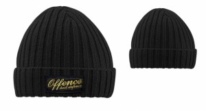 BEANIE OFFENCE BEST DEFENCE COSTS BLACK/YELLOW