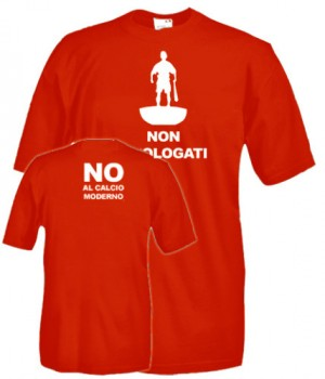 t-shirt no al calcio moderno