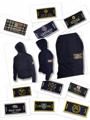 hoody removable badge +10 badges
