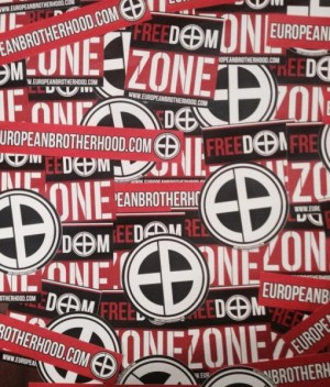 100 stickers EB European Brotherhood